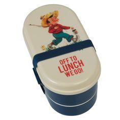 Een ideale lunchbox om een gezonde maaltijd mee naar school te nemen. De bento box heeft 2 compartimenten die elk afzonderlijk sluiten en in het bovenste vakje zit nog een bestekje.