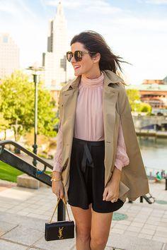 Cape: CeCe Shirt: Vince Camuto Skirt: Topshop ( similar ) Shoes: Gucci Bag: YSL Glasses: Karen Wal...