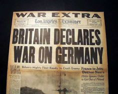 An introduction to britains declaration of war upon germany