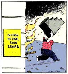 In Case Of Fire Take Stairs | #puns #visual_puns
