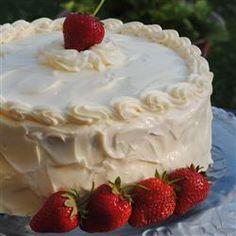 """""""Best Ever"""" Strawberry Cake Recipe - Allrecipes.com. I'm trying this today."""