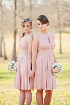 Gorgeous bridesmaids • Photo by Wes Roberts Photography. Makeup LushMakeupArt.com