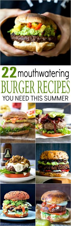 22 MOUTHWATERING BURGER RECIPES