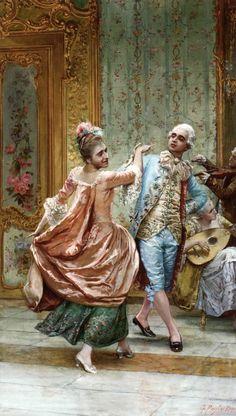 At the Ball by Gioacchino Pagliei (Italian 1852–1896)