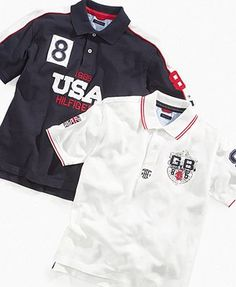 Tommy Hilfiger Kids Shirt, Little Boys Country Polo Shirts - Kids Boys 2-7 - Macy's