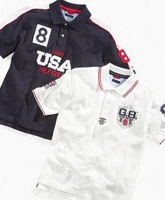Tommy Hilfiger Kids Shirt, Little Boys Country Polo Shirts - Kids Boys 2-7 - Macy's