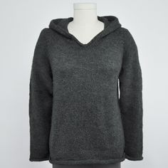 Hooded Alpaca Sweater