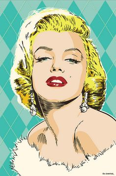 Marilyn Monroe portrait by Jim Zahniser - Digital Art - Drawing - Pen & Ink With Digital Manipulation
