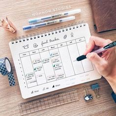 Creative Bullet Journal Meal Plan Ideas {to keep you organized and well fed!} Bullet Journal Meal Plan {Ideas to keep you organized and well fed!}Bullet Journal Meal Plan {Ideas to keep you organized and well fed! Bullet Journal Inspo, Bullet Journal Meal Plan, Bullet Journal 2019, Bullet Journal Spread, Bullet Journal Layout, Bullet Journals, Bullet Journal Timetable, Agenda Organizer, Planner Organization