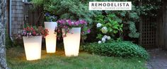 Garden light planters