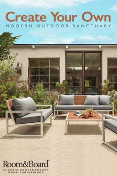 Our Montego outdoor furniture collection is offered in a variety of pieces to create your own modern outdoor space.