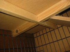 Adding a shelf to a Cage/Crate for a Two Level Rabbit Cage