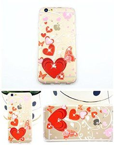 iPhone 6 case with Love Heart diamond decoration, iPhone 6 TPU soft case for girls, iPhone 6 4.7'' back soft cover
