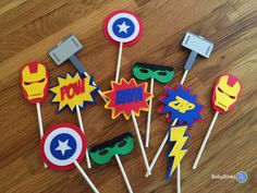 Die Cut Avengers Super Hero Cupcake Toppers - marvel inspired captain america the hulk thor ironman birthday party decorations wedding Avengers Birthday, Superhero Birthday Party, 4th Birthday Parties, Superhero Kids, Avenger Party, Iron Man Birthday, Boy Birthday, Birthday Cake, Birthday Party Decorations For Adults