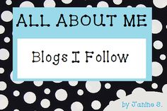 My Pinboard: All about me - Blogs I Follow