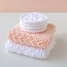 Name: 'Crocheting : Spa Set cloth–scrubby–soap saver Crochet Faces, Love Crochet, Crochet Gifts, Easy Crochet, Crochet Baby, Knit Crochet, Crochet Scrubbies, Crochet Dishcloths, Yarn Projects