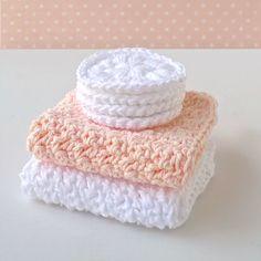 Easy Crochet Spa Set