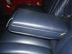 Austin 1500 Vandem Plas concourse leather interior refurbishment centre arm rest of rear seat