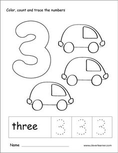 Number 3 tracing and colouring worksheet for kindergarten 21 Number 3 Worksheets Number 3 Worksheets - There are many explanations why you would need t. Coloring Worksheets For Kindergarten, Preschool Number Worksheets, Number Activities, Numbers Preschool, Tracing Worksheets, Preschool Math, Worksheets For Kids, Learning Activities, Addition Worksheets