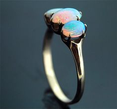 antique opal ring. #opalsaustralia