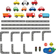 Cars Wall Decal Transportation Wall Decal Roadway by StudioWallArt, $155.00