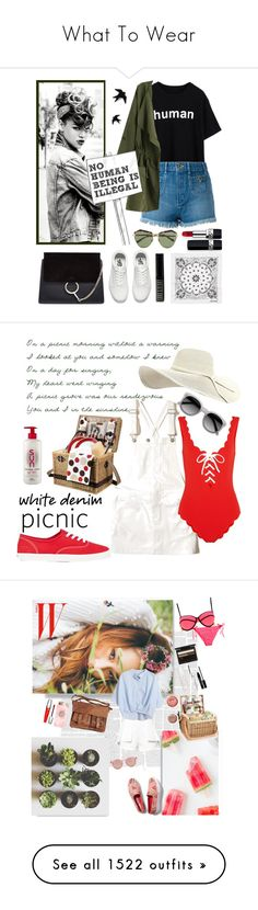 """""""What To Wear"""" by lorisgolfshoppe ❤ liked on Polyvore featuring Chloé, Vans, Christian Dior, Lord & Berry, Karen Walker, Opening Ceremony, Hollister Co., Marysia Swim, Picnic Time and Keds"""