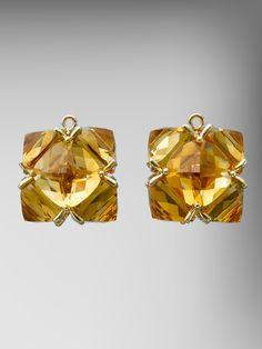 Citrine and 18kt Yellow Gold Very PC Pendants