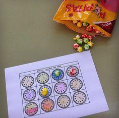 Bingo telling the time. Primary activity
