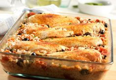 Mediterranean Chicken & Rice Bake