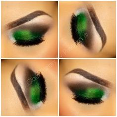 Emerald eye makeup for St. Patrick's Day