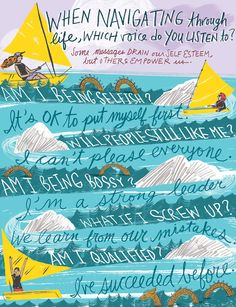 Navigating Through Life, handlettering and illustration for SHE Magazine by ©Katy Dockrill. Represented by i2i Art Inc. #i2iart
