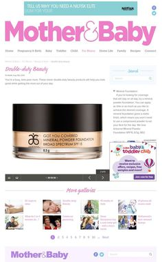 """In the News] Arbonne's Got You Covered Mineral Powder Foundation has been featured on Mother & Baby Online. As the article states, """"if you're looking for coverage that will stay on all day, try a mineral foundation. You can add as little or as much as you like to achieve the desired coverage. www.rhonafitzpatrick.myarbonne.com.au"""