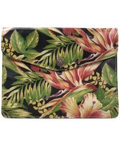 Patricia Nash Midi iPad Case - Cuban Tropical Black