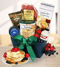 Order Good Morning! Bed & Breakfast Gift Basket online. Our product range offers gift baskets for almost every occasion or holiday, including Gourmet, Flavors Of New England. Free Shipping and Speedy Delivery to the USA within 48 hrs.