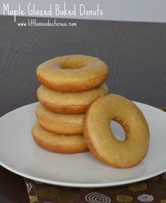 Eliminate the guilt of eating donuts!These Maple Glazed Baked Donuts are a healthy alternative to their fried, artificially flavored,fattening counterparts!