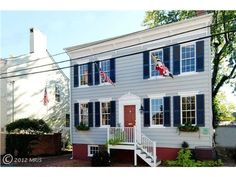 $1,295,000 45 Cornhill Street, Annapolis, MD 21401 — Grand Historic Home. The Margaret Bassford House has been renovated/restored to all its former elegance plus updated to all the convenience and utility of state of the art construction as directed by Historic Preservation Award winner, George Brown.  There are 3/4 bedrooms, 3 1/2 baths, 3 fireplaces and family room, plus 2 yrs for 1 car at Hillman garage paid by seller. All in view of Capital Bldg