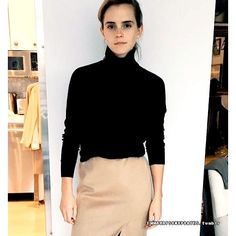 Emma Watson getting ready for #HeForShe 2nd anniversary