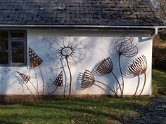 Image Of: Wall Sculptures Outdoor, Wall Art Sculpture