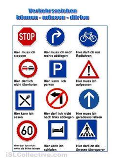 können müssen dürfen - Verkehrsschilder