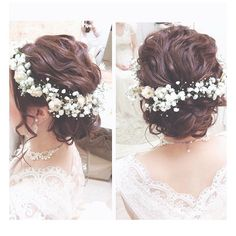 Wedding Hairstyles Throughout History – Model Hairstyles Rustic Wedding Hairstyles, Hairdo Wedding, Wedding Makeup, Dress Hairstyles, Party Hairstyles, Bride Hairstyles, Bridal Hair Inspiration, Hair Arrange, Hair Decorations