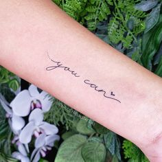 Learn more about tattoo styles and the work of Carlos Freua - carlosfreuatattoo (Tattoo artist). Cursive Tattoos, Phrase Tattoos, Writing Tattoos, Wrist Tattoos, I Tattoo, Tatoos, Tattoo Quotes, Small Tats, Small Girl Tattoos