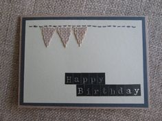 Simple Burlap Happy Birthday Card