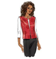 B6139 | Misses' Vest and Jacket | New Sewing Patterns | Butterick Patterns