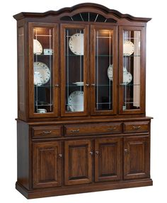 Amish Furniture, Shabby Chic Furniture, Dining Room Furniture, Furniture Design, Shelf Design, Cabinet Design, Leaded Glass, Beveled Glass, Glass Doors