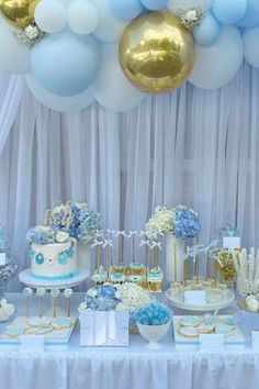 Dont miss this fabulous boy baby shower at CatchMyParty.com!! What a beautiful dessert table! See more party ideas and share yours at CatchMyParty.com #catchmyparty #partyideas #boybabyshower #babyshower #partydecorations
