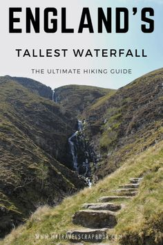The tallest waterfall in England is relatively unknown. Located in the Howgills between the Yorkshir Places To Travel, Travel Destinations, Places To Visit, Holiday Destinations, Blog Art, Hiking Guide, Backpacking Tips, Hiking Trails, Visit Uk