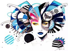 Moths and Aliens -Original- Pixie Cold. #creativity