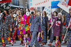 "#potd: Cara Delevingne leads models down ""Boulevard Chanel"" for Chanel's ""feminism-inspired"" Spring 2015 PFW runway."