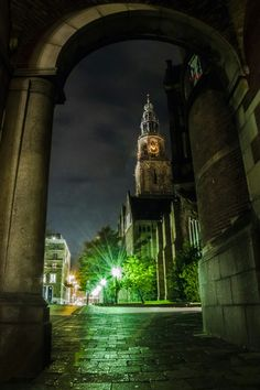 Martini Tower Groningen on a Halloween night