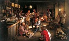 Trading posts were the place to go for all ones needs, from hunting tools or guns for family defence, to farm implements and seen corn, and even clothing and cloth. A Woodsrunner's Diary: The Colonial Fur Trade. Frank Frazetta, Quebec, Woodland Indians, Native American Images, Fur Trade, Canadian History, American History, West Art, Colonial America